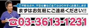 電話番号03-3613-1231